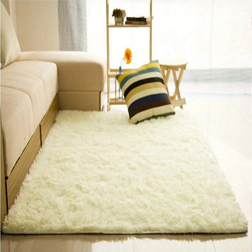 80x120cm Shaggy Anti-skid Carpets Rugs Floor Mat/Cover -