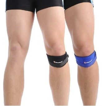 Adjustable Basketball Sports Special Shock-absorbing Knee PatellaWith Knee Pads Kinesio tape Knee Protector Blue
