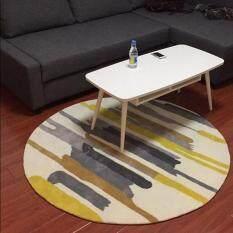 Anti Slip Bathroom Floor Mat Modern Printed Living Room Carpet Hydrophil Washable Rugs For Bedroom Diameter 80CM