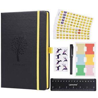 Bullet Journal - Lemome Dotted Numbered Pages Hardcover A5 Notebook with Pen Holder + Premium Thick Paper + Bonus Gifts