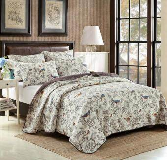 Cotton Double bed cover airable cover washed quilted is