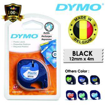 Dymo LetraTag Label Marker Tape Refill 12mm x 4m- Plastic White