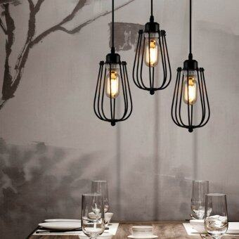 Ecopower Vintage Style Industrial Hanging Light Black Mini