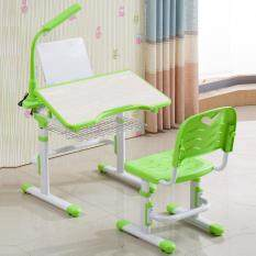 ergonomic kids study table chair set with led study lamp children desk set - Childrens Table And Chair Set