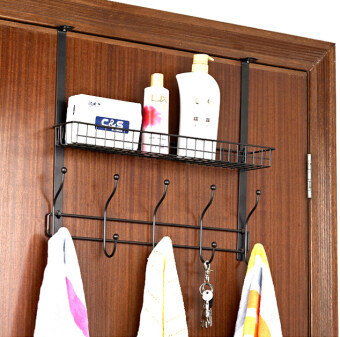 Every day special creative wrought iron door after hook-free nail hook door back hanging clothes rack door on the shelf rack hanging Clothing hook