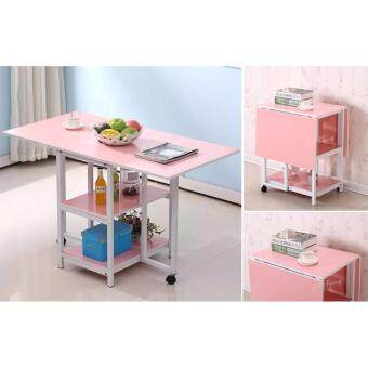 FOREVER 2-in-1 Foldable Cabinet and Desk (Pink)