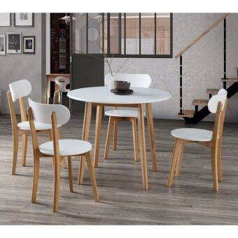 Furniture Direct Fermine 4 Seater Round Dining Set Lazada Malaysia