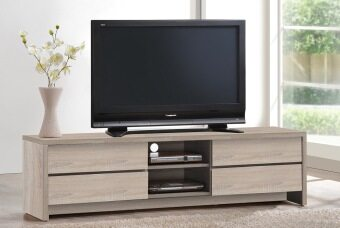 HK TV4143 TV Cabinet (White Oak)