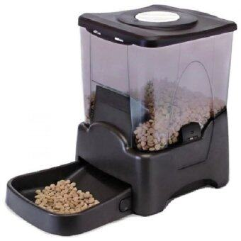 Malaysia Prices Large Capacity Automatic Pet Feeder Cat/Dog (Black) 10.65L