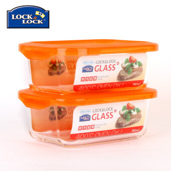 Lock&Lock 760ml heat-resistant glass crisper microwave oven container