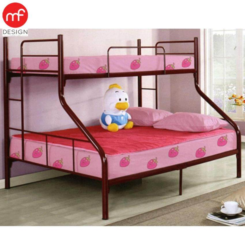 Sg63 single over queen size metal bunk bed with 10 years for Single bunk bed