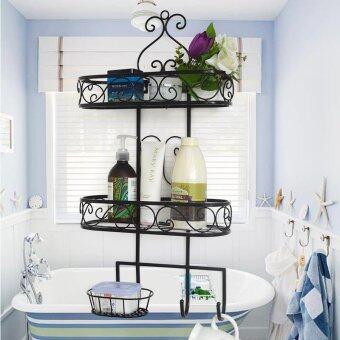multi functional elegant bathroom shelves black