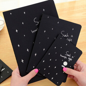 Notebook Diary Black Paper Notepad Sketch Graffiti Notebook forDrawing Painting 56K
