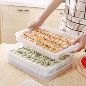 Plastic transparent Japanese-style home frozen food container
