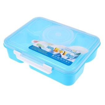 portable microwave bento lunch box 5 1 food container storage box a blue lazada malaysia. Black Bedroom Furniture Sets. Home Design Ideas