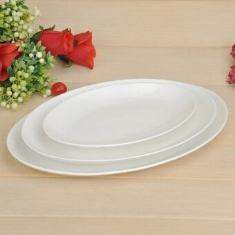 Pure White Bone China Ceramic steamed fish dish