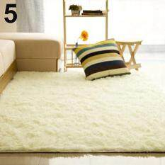 SanwoodR Living Room Bedroom Home Anti Skid Soft Shaggy Fluffy Area Rug Carpet Floor Mat Creamy White