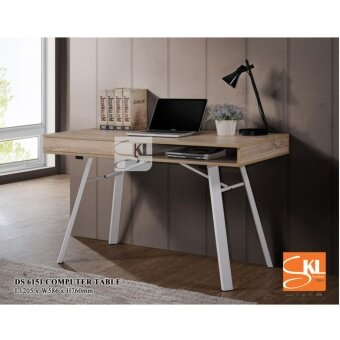 SKL6151 COMPUTER TABLE/STUDY TABLE/WORKSTATION/WRITING TABLE WITH SOLID METAL LEG + DRAWER