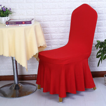 Solid color stretch hotel restaurant dining chair cover