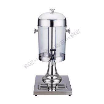 STAINLESS STEEL JUICE DISPENSER 8L WITH ICE CHAMBER (Chrome Plated Stand)