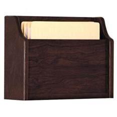 Wooden Mallet Deep Pocket File Holder, Letter Size, Oak