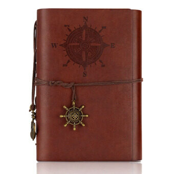YBC Retro Pirate Style Notebook Journal Diary Book Spiral RingBinder Notepad Brown