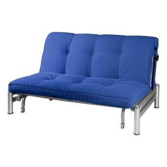Zelmo Modern Queen Size Sofa Bed Navy Blue