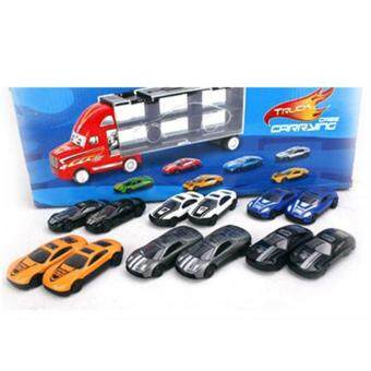 1 Set Container Truck Toy Cars 12 Alloy Car Model For Kids XmasGift Brand New