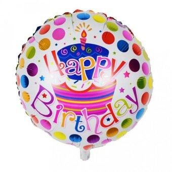 2X Happy Birthday Aluminum Foil Balloons Round Birthday WeddingParty Decoration
