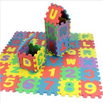 36pcs Baby Kids Alphanumeric Educational Puzzle Blocks Infant ChildToy Gifts