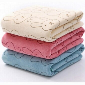 3Pcs Cute Microfiber Absorbent Drying Bath Beach Towel WashclothSwimwear Baby Towel