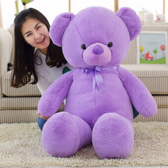 Bear purple bowtie Bear doll cloth doll