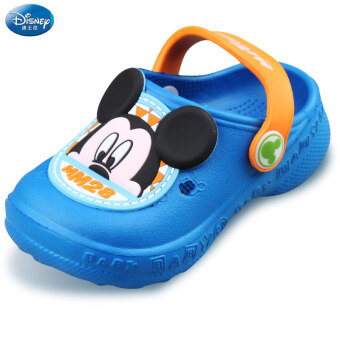 Disney slippers summer new women's shoes children hole shoeschildren slip sandals 1-3-year-old baby sandals and slippers