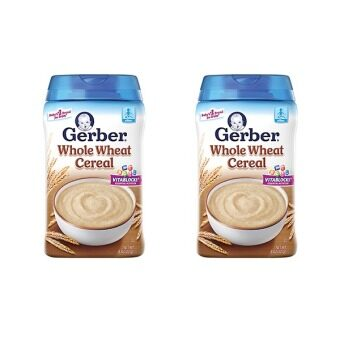Gerber Whole Grain Whole Wheat Cereal 227g Twin Pack(Expiry Date: AUG 2018)