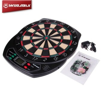 Malaysia Prices Winmax Electronic Indoor Sport Soft Tip Dartboard with LED Display 21 Games Score Voice with 6 Free Darts