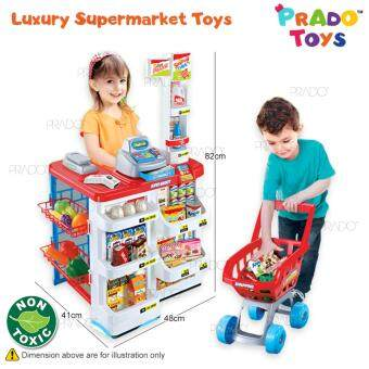Malaysia Prices PRADO TOYS Electronic Shopping Cart Kids Role Play Pretend Large Set