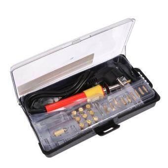 Malaysia Prices BolehDeals 24pcs 220V 30W Wood Burning Pen Soldering Set Pyrography Kit Tool EU Plug
