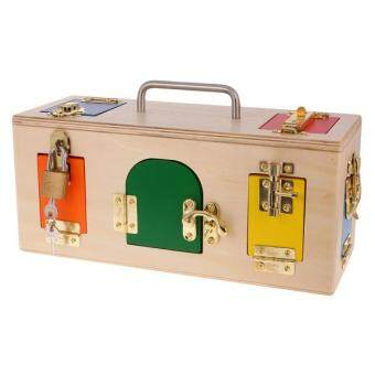 Malaysia Prices BolehDeals Wooden Montessori Practical Material Little Lock Box Kids Educational Toy