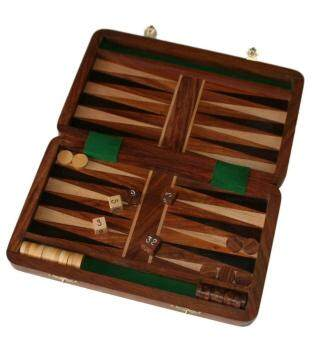 Malaysia Prices Fair trade Wooden Folding 25cm Backgammon set