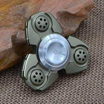 Malaysia Prices Hand Spinner Fidget EDC Spin Toy Aluminum Custom Bearing Fidget Toys Army Green
