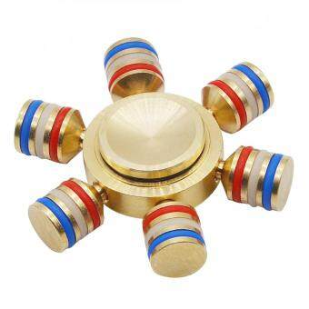 Malaysia Prices MITPS 5Pcs Hand Spinner Sand Ceramic Bearing Golden Toy alloy EDC Sensory Fidget Spinner For Autism And Kids