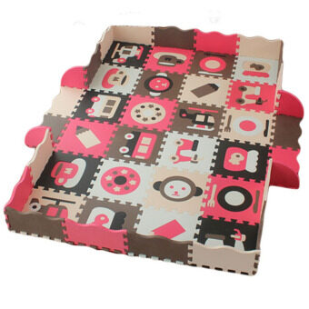 Malaysia Prices Meitoku Eva Playing Ground Puzzle Mat (25pcs) Pink