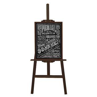 Malaysia Prices Wooden H Frame Display Art easel with Blackboard chalkboard for shope restraunt Children education