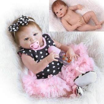 Malaysia Prices 23'' Handmade Full Silicone Reborn Girl Body Lovely Dolls Newborn Baby Vinyl Toy