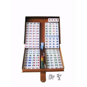 Malaysia Prices GENUINE PREMIUM QUALITY 37mm ASIAN MALAYSIA CRYSTAL GOLD MAHJONG 4 PLAYER WITH PVC CASE