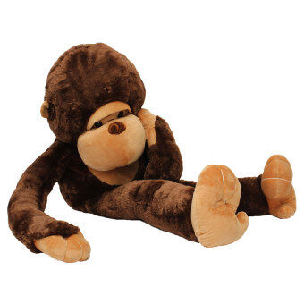 Malaysia Prices Stuffed Giant Large 130CM Big Brown Plush Monkey Huge Soft 100% Cotton Doll Toy