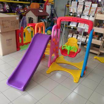Malaysia Prices TOYS STREET 3 IN 1 SWING & SLIDE WITH BASKETBALL PLAYGROUND SET