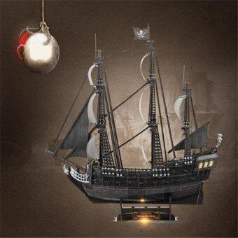 Malaysia Prices 1:95 Cubic Fun Jigsaw Puzzle 3d Black Pearl Pirates Of The Caribbean Ship model T4018h Adult DIY Toys