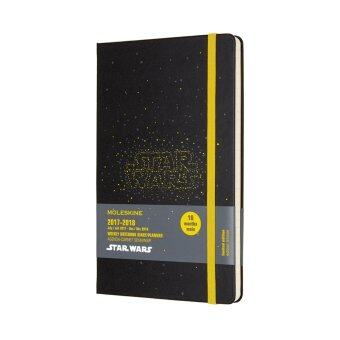 Malaysia Prices Moleskine 2017-2018 STAR WARS Limited Edition Weekly Planner Notebook, 18 Month, Large, Black, Hard Cover(13 x 21 CM)