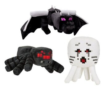 Malaysia Prices 3pcs/lot Minecraft Toys Minecraft Creeper Dragon Ghost Spider Plush Toys JJ Dolls Stuffed Plush Toys brinquedo Gift for Children